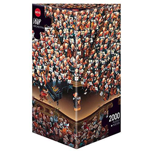 Heye 8660 - Dreieckspuzzles 2000 Teile Orchestra, Jean-Jacques Loup