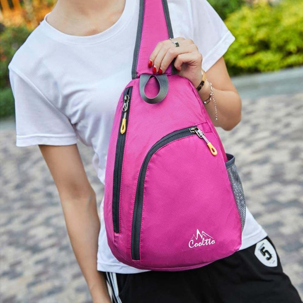 Cooltto Sling Bag Crossbody Sling Backpack Casual Rucksack Travel//Outdoor//Hiking Chest Bag Purse Daypack