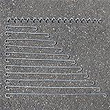 Distanzhalter Distanz-Haken Spirale Spiralen Metall 4mm für Gabione/Gabionen, Zubehör für Gabionen, Ersatzteile Gabionen (10x Distanzhalter - 30cm) -