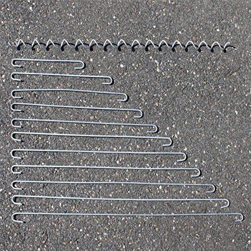 Distanzhalter Distanz-Haken Spirale Spiralen Metall 4mm für Gabione/Gabionen, Zubehör für Gabionen, Ersatzteile Gabionen (10x Distanzhalter - 25cm)