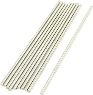 Uxcell a13090200ux0053 RC Airplane 100mm x 2mm Stainless Steel Round Rod (Pack of 10)