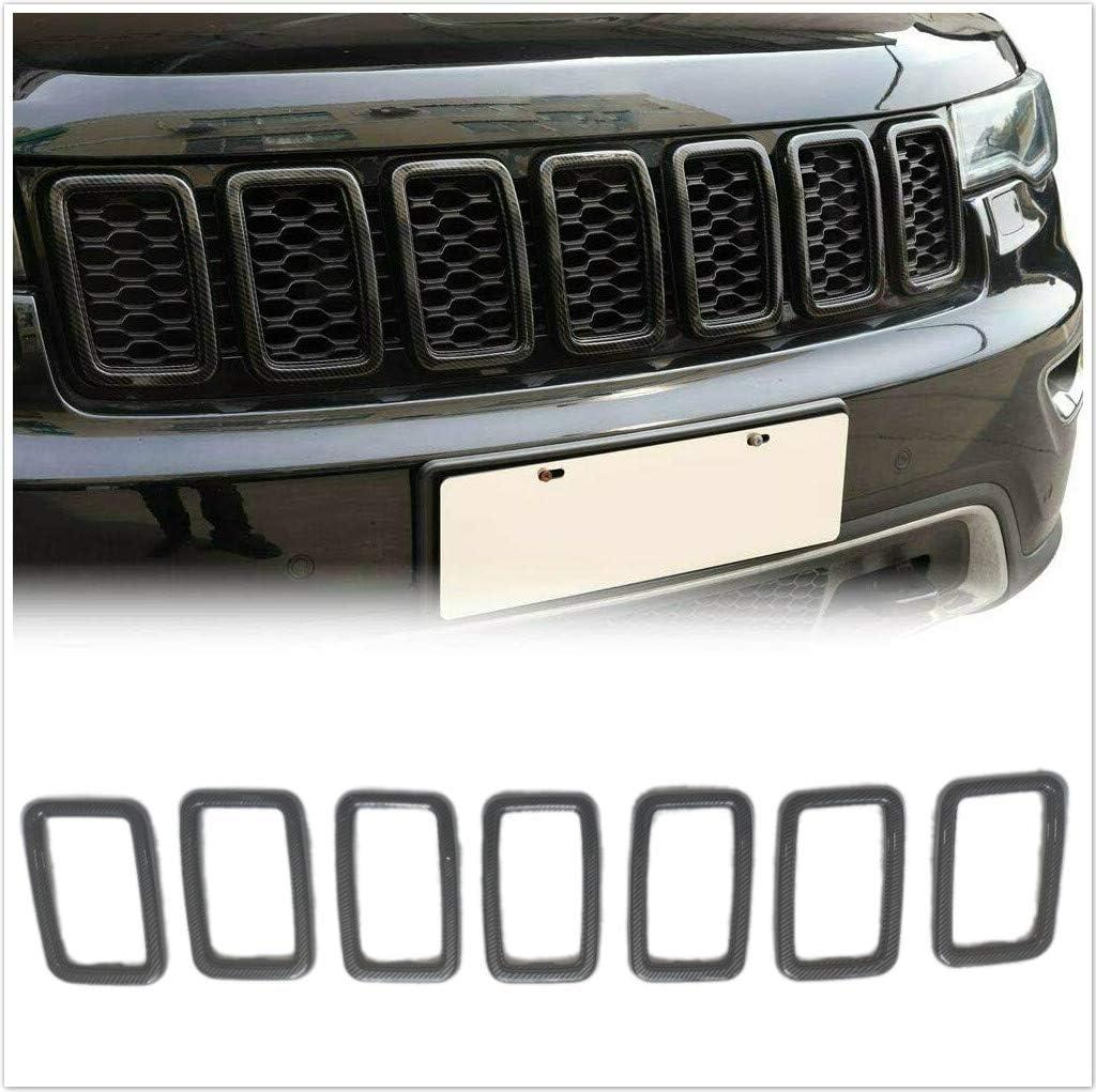 Meyffon Grille ブランド買うならブランドオフ Inserts 《週末限定タイムセール》 Fit for Jeep Cherokee Grand 2017-2019 Rin