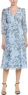 Donna Morgan womens 3/4 Sleeve Button Front Dress Casual Dress