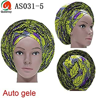 Lace Fabric African | New Style African Auto Gele Headtie Already Made African Ankara Material Ladies Head Wrap 1Pc/Pack DHL As031 | by DOBTSore