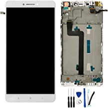 SOMEFUN LCD + TP Replacement for Xiaomi Mi MAX/Xiaomi MAX Pro Prime 6.44'' Display Touch Screen Digitizer Glass Assembly (White W/Frame)