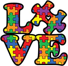 NI284 Autism Awareness Puzzle Piece Car Decal Sticker | Premium Quality Vinyl Sticker | 5-Inches X 5-Inches