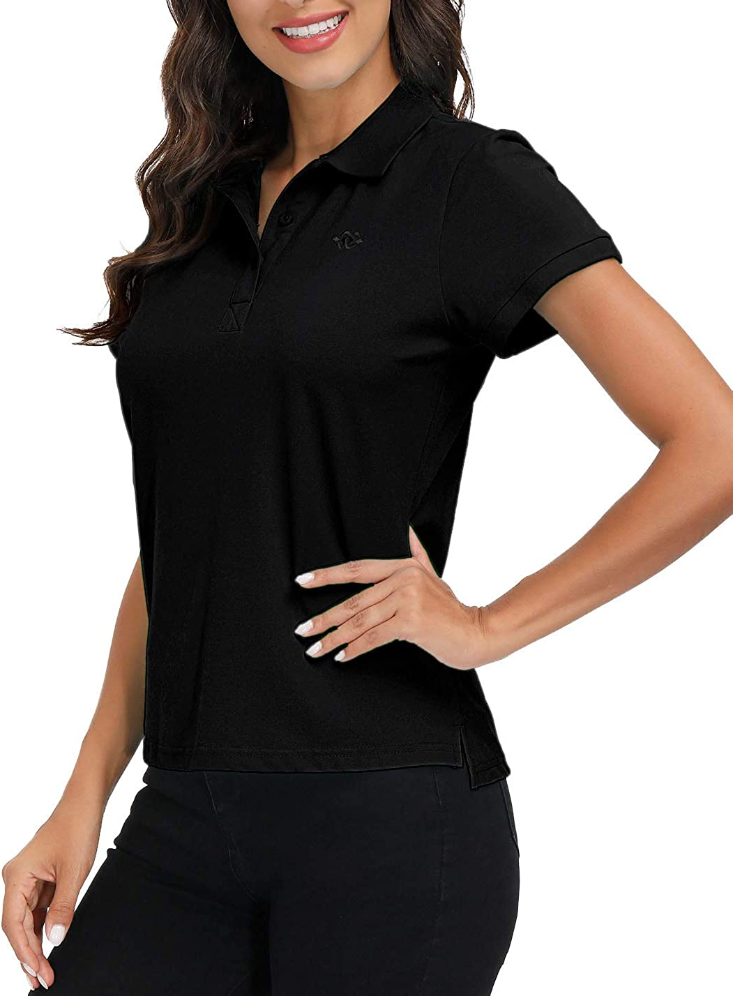 AjezMax Womens Polo Shirt Golf Sport Short Basic Quick Dry Shirt Casual : Clothing, Shoes & Jewelry
