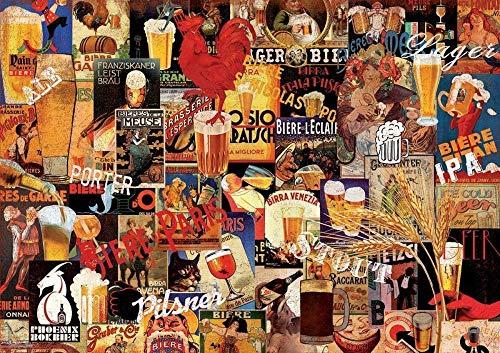 MENGLE Puzzle 1000 Teile Erwachsene Kind Puzzles Klassisches Puzzle DIY Geschenk Modern Festival Intellektuelles Spiel Puzzle Panorama Art Bier Scrapbooking