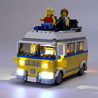 Haoun Lighting Kit for Creator 3in1 Sunshine Surfer Van Building Blocks Model, Light Kit Accessories Compatible with Lego 31079,Light Included Only, No Lego Set