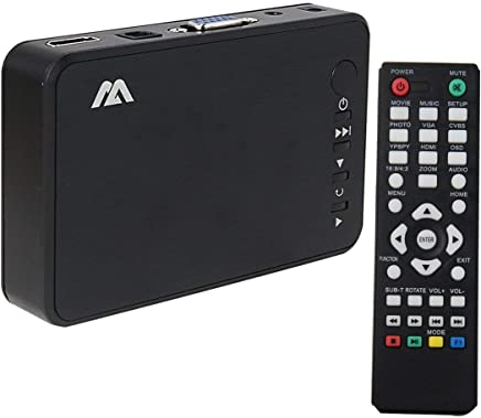 1949shop Full HD 1080p Reproductor Multimedia HDMI HDD MKV SD USB TV AVI RM Reproducción automática y bucles Control Remoto inalámbrico