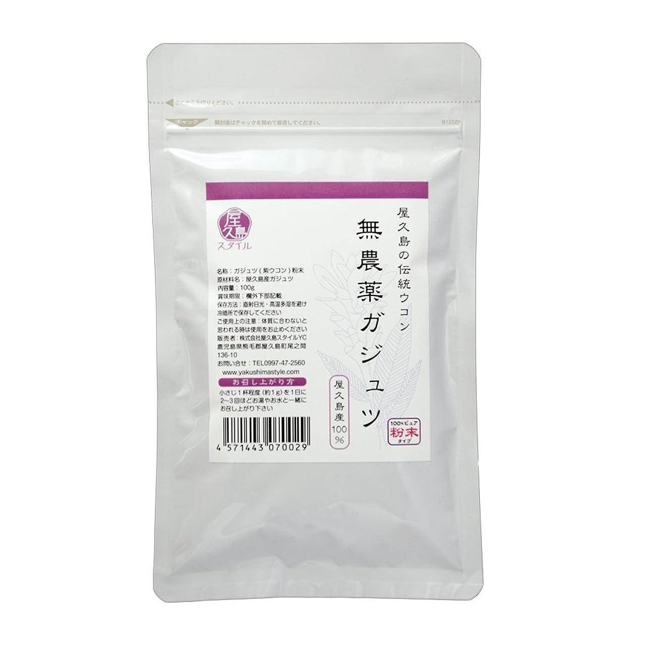 弾薬掃く玉【屋久島の伝統ウコン】屋久島ガジュツ(紫ウコン)粉100g