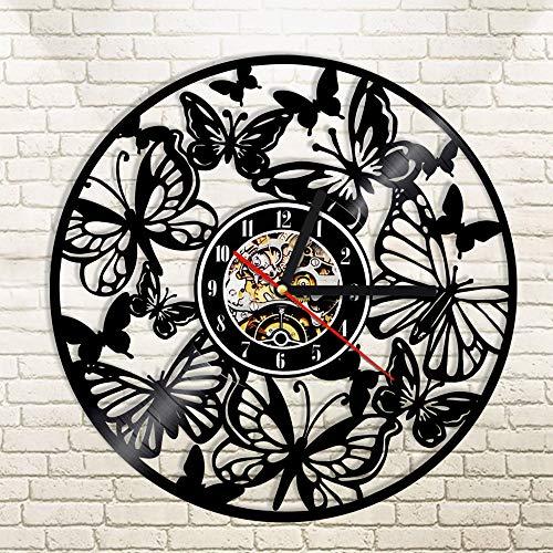 Mariposa vinilo reloj de pared animal silhowood mesa lámpara de mesa lámpara de mesa lámparas de mesa lámpara de mesa