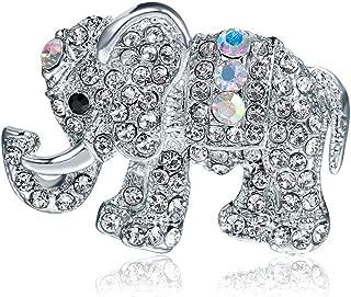 Ogquaton Duradero Broche de Elefante de Cristal Cubierto Bufandas Mant/ón Animal Ropa Sombrero Bolsa de Accesorios