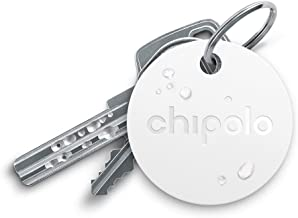 Chipolo Plus Bluetooth Key Finder and Phone Finder - The Loudest (100 dB) - White