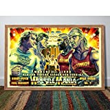 CanvasWallCraft poster, compatible with Wrestlemania 1985 Poster/professional wrestling matches artwork