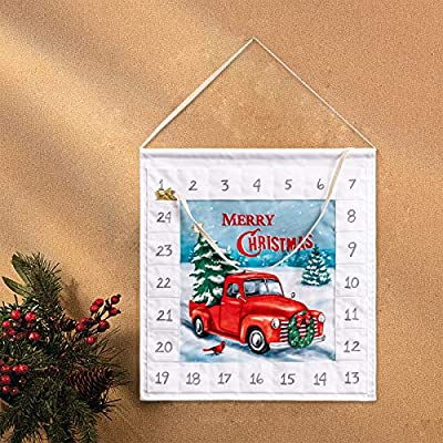 Amazon - Save 50%: YEAHOME Advent Calendar 2020 with Pockets Wall Hanging Bag Wall Hangin…