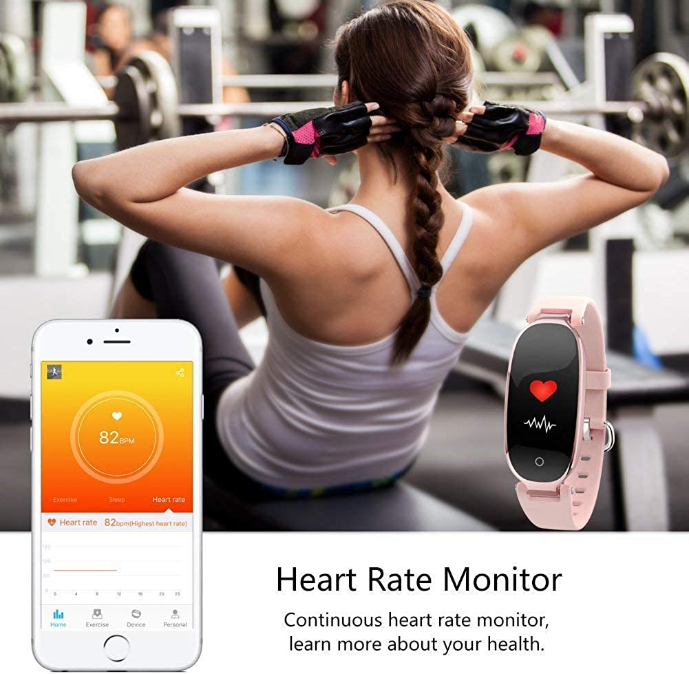 Winnes Fitness Tracker, Damen Smart Fitness Watch mit Schlaf ...