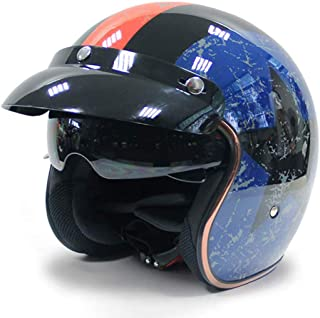 ジェットヘルメットスクーターヘルメットボバーモファモトヘルメットバイカーパイロットクルーザーヴィンテージチョッパーレトロベスパヘルメ