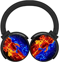 Fire and Ice Soulmates Unisex Teen Adult Wireless Bluetooth Headphone Headset Earphone Portable On-Ear Hi-Fi Earbuds