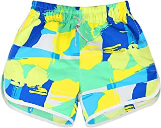 RONSHIN Shorts for Loves Beach Pants Printing Casual Large Size Fifth Pants for Women and Men Surfing Beach Shorts