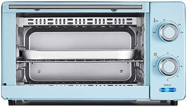 YFGQBCP Horno 11L Mini Horno, Horno de Banco 1000W 60 Minutos de temporización Doble Parrilla Incluye Independiente de escoria Bandeja 8 alas de Pollo, 8 Pulgadas de la Torta de Gasa (Color : Blue)