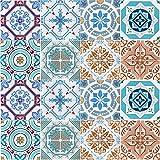 Profesticker 16 Vinilo Azulejo Adhesivo Mural 2D PVC Auto-Adhesivo Baldosa Cuadrado Pegatina Pared...