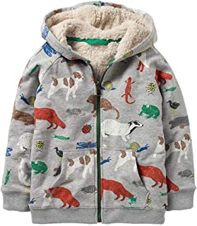 HUAER& Toddler Baby Boys Autumn Winter Fleece Jacket Thick Warm Outerwear