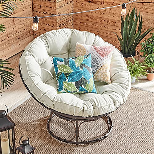Barton Large Papasan Chair Round Chair with Tufted...