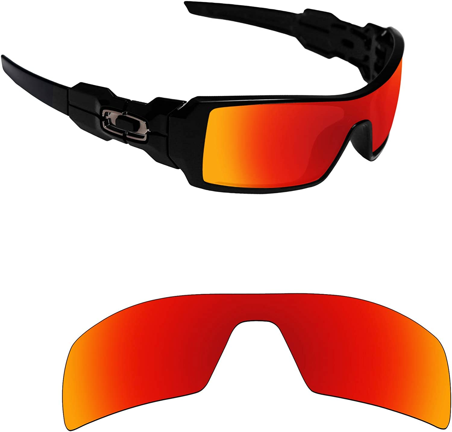 Alphax Polarized Replacement Credence Lenses for Multipl Oakley Oil - Rig Super intense SALE