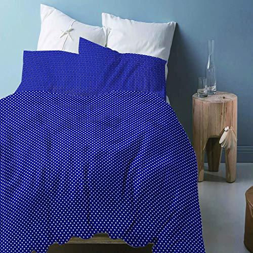 LFOFRP Juego De Ropa De Cama 3 Piezas 200X200CM - Cama 135 CM Azul Simple 3D Patrón Funda Nórdica Y 2 Fundas De Almohada, Funda De Edredón De Microfibra, Suave Y Transpirable