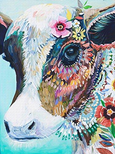 Kits de point de croix de vache colorés, 14 carats, fils de coton égyptien 180 x 240 cm, 43 x 54 cm