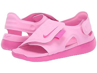 Nike Kids Sunray Adjust 5 (Little Kid/Big Kid) (Psychic Pink/Laser Fuchsia) Girls Shoes