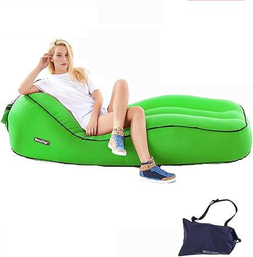 Lit Gonflable imperméable portatif d'air de Sac de Chaise d'air Gonflable de Chaise Longue Idéal pour la Plage extérieure de Parc de Camping (Couleur   A, Taille   80  55  190cm)