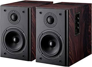 Multi-Functional Wooden Multimedia Speakers,Bluetooth Wireless High-Fidelity Sound Quality Speaker (Color : Brown)