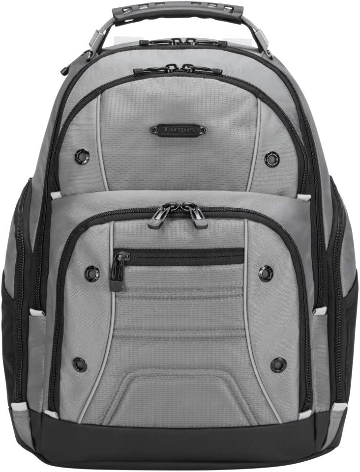 Targus Drifter II Backpack Design for Business Professional Commuter with Large Compartments, Durable Water Resistant, Hidden Zip Pocket, Protective Sleeve fits 16-Inch Laptop, Gray (TBB23804GL)