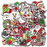 50枚 メリークリスマス コミック 防水ステッカー セットスーツケースステッカー お気に入りのスーツケース 自転車 ヘルメット パソコン 携帯 ノート