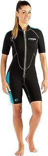 Cressi Short Front Zip Wetsuit for Surfing, Snorkeling, Scuba Diving |Lido Short Lady
