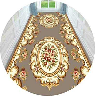 YANZHEN Hallway Runner Rugs Corridor Carpet Non-Slip Backing Cutable Soft Blended Fabric Thickness 6mm, Length Customization (Color : A, Size : 0.6x8m)