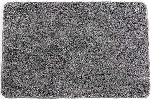 Alfombra baño Microfibra Alfombras de baño Antideslizante Alfombra de baño Cómoda Alfombrilla baño Esponjosa Alfombrilla de baño Absorbente Alfombras para baños Lavable a máquina,Gris,30 x 50 cm