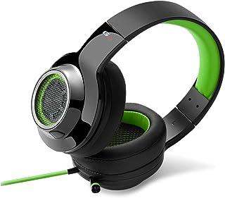 Edifier G4 opaska na włosy, czarna, zielona słuchawka – słuchawki (PC/gry, 7,1-kanałowa, opaska na włosy, czarna, zielona,...