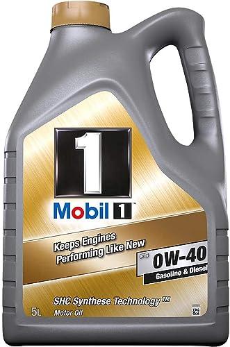 Mobil 1153678Huile moteur synthétique FS 0W40, Gold, 5litres