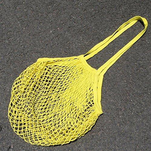 srovfidy Staubsaugerbeutel Einkaufskorb von Mobiltelefonen Supermarkt leicht zu kaufen 100% Baumwolle Obst, gelb, one size