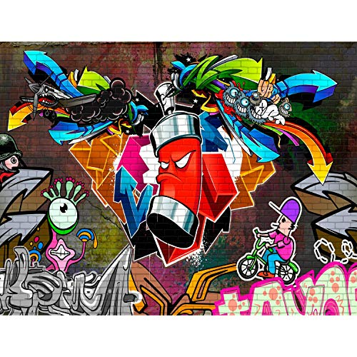 Fototapete Graffiti Streetart 396 x 280 cm Vlies Wand Tapete Wohnzimmer Schlafzimmer Büro Flur Dekoration Wandbilder XXL Moderne Wanddeko - 100% MADE IN GERMANY - Runa Tapeten 9063012a