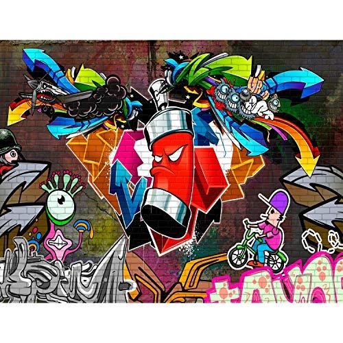 Fototapeten Graffiti Streetart 352 x 250 cm Vlies Wand Tapete Wohnzimmer Schlafzimmer Büro Flur Dekoration Wandbilder XXL Moderne Wanddeko - 100% MADE IN GERMANY - Runa Tapeten 9063011a