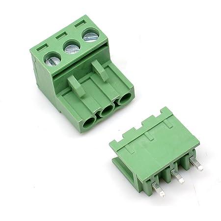 5x Terminal Tripolar 3 Poles PCB Screw Terminal Strip 1,5 mm 16a 250v CS circuit