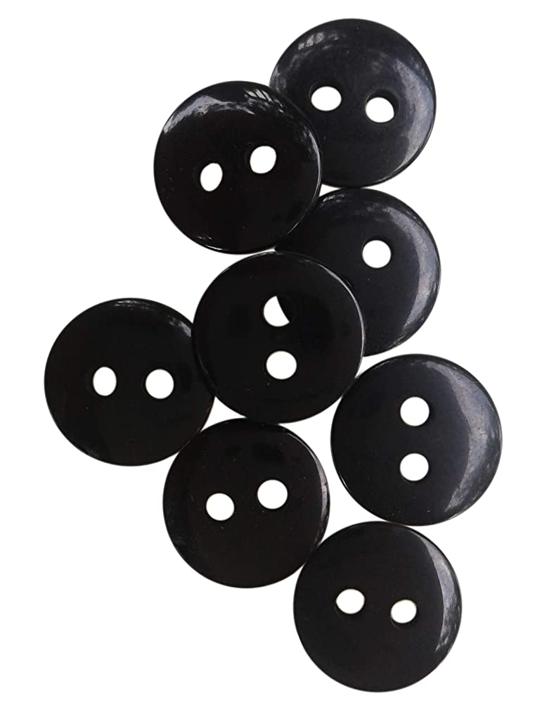 Nesha Design Components NDC Black Sewing Craft Buttons 100 Pack