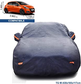 Color : Silver, Size : 108 ZYuan Telo copriauto Telo Copriauto Compatibile con Peugeot 108 208 308 508 Telo Copriauto Antigrandine Telo Impermeabile Auto Esterno Impermeabile E Traspirante