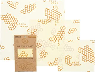 Bee's Wrap – Assorted Set of 3 – Certified B Corporation – No Synthetic Wax or Chemicals – Holds for Up to a Year – Sustai...