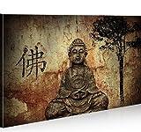 islandburner Bild Bilder auf Leinwand Buddha V10 1p XXL