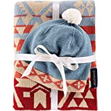 Pendleton Knit Sherpa Baby Blanket and Beanie Gift Set Canyonlands One Size